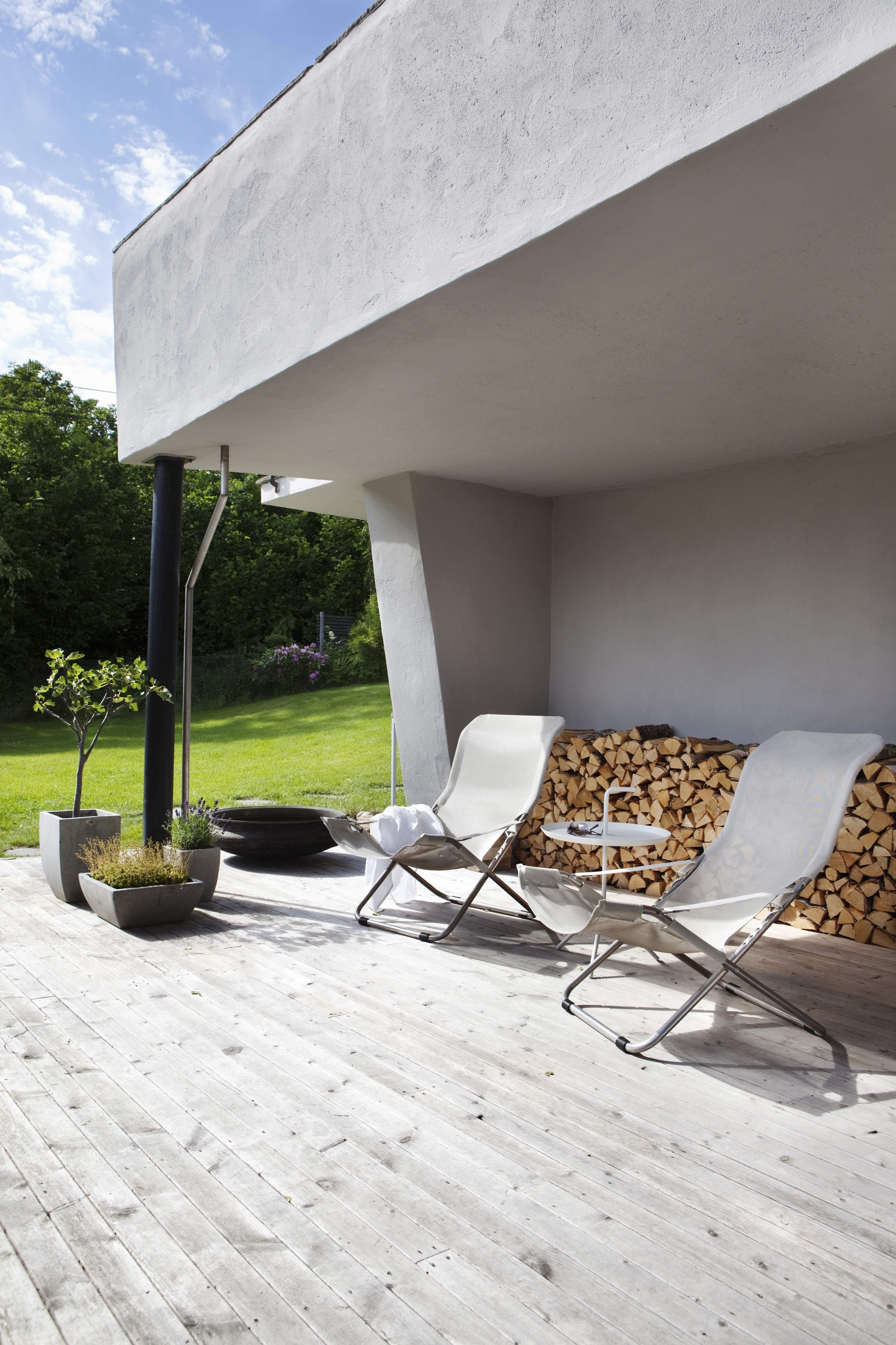Stramt og klassisk under terrassetaket