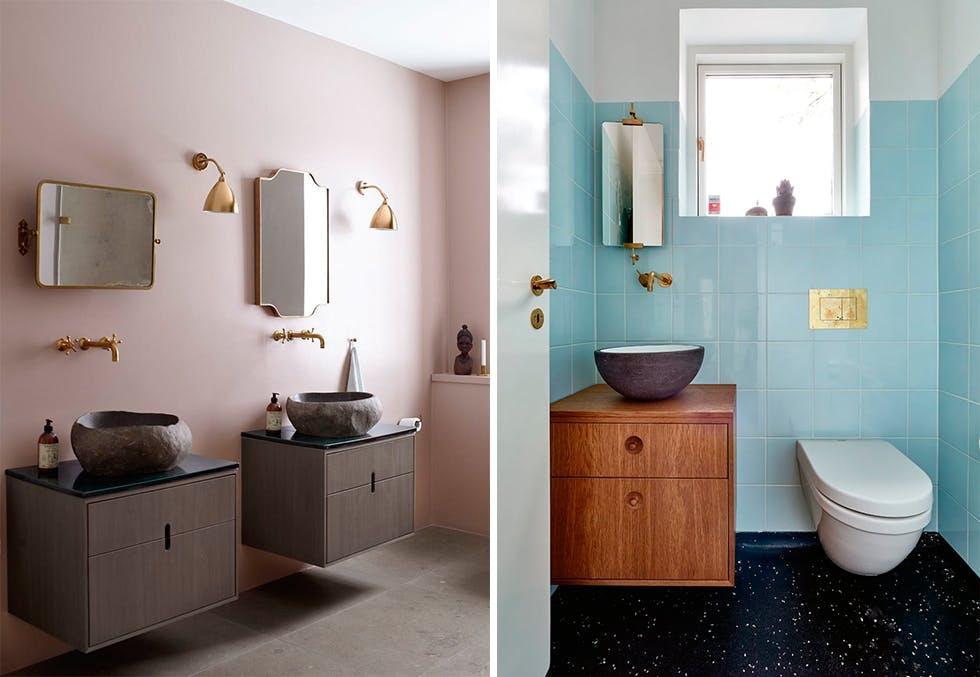 Slik innreder du med farger på badet