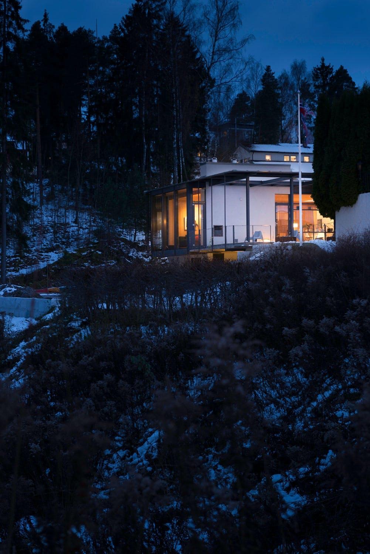 Hus som gløder i mørket