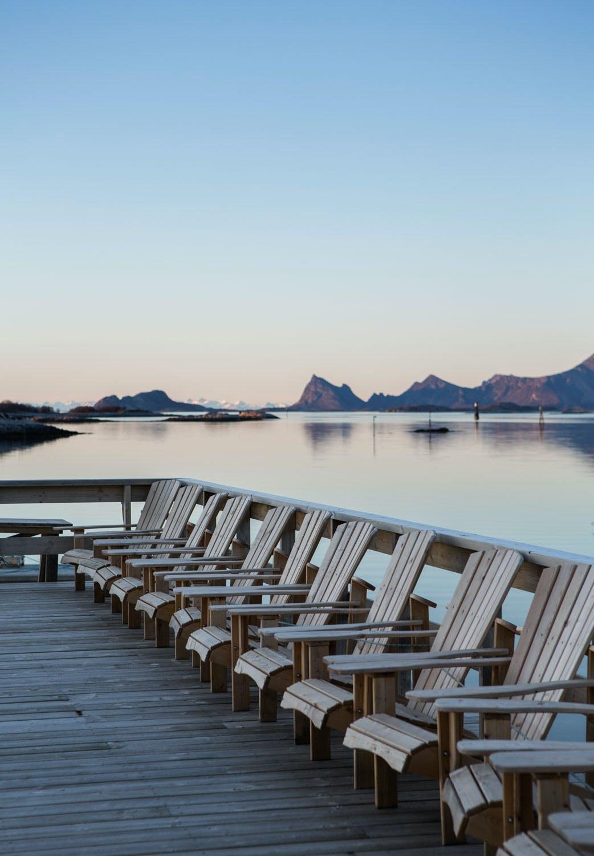 Soldekket på hotell Manshausen i Steigen i Nord-Norge