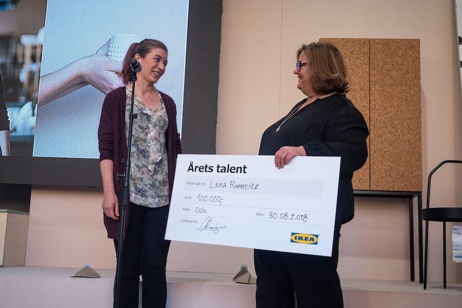 Hun vant også 100 000 kr!