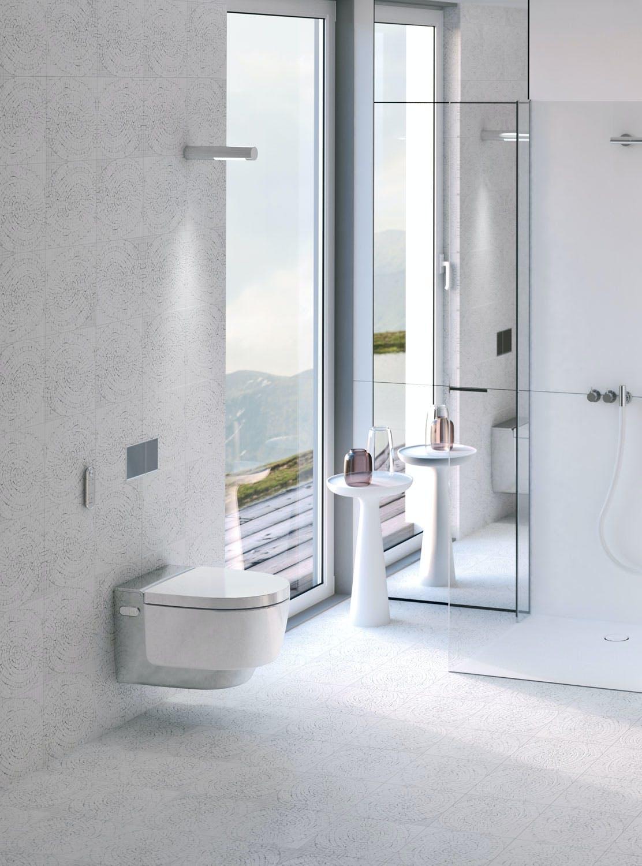 Dusj, vask og toalett