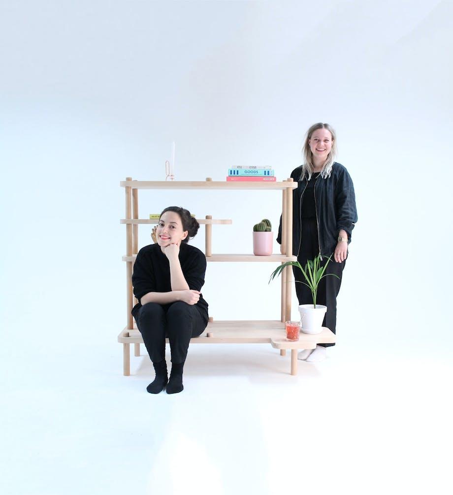 DIY-møbel med benk og hyller