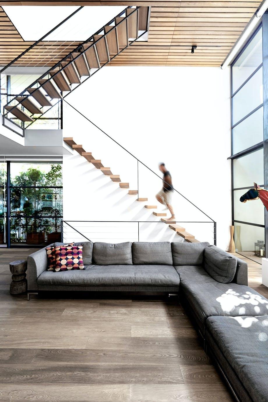 Svevende trapp med full oversikt