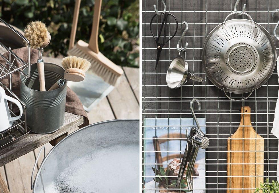 Ta oppvasken på terrassen!