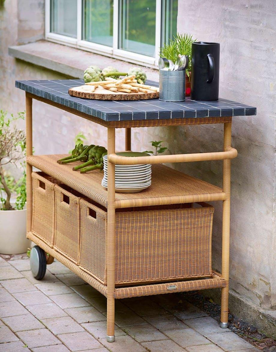 Grillbord som avlastning