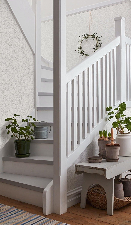 Romantisk og landlig stil i trappen
