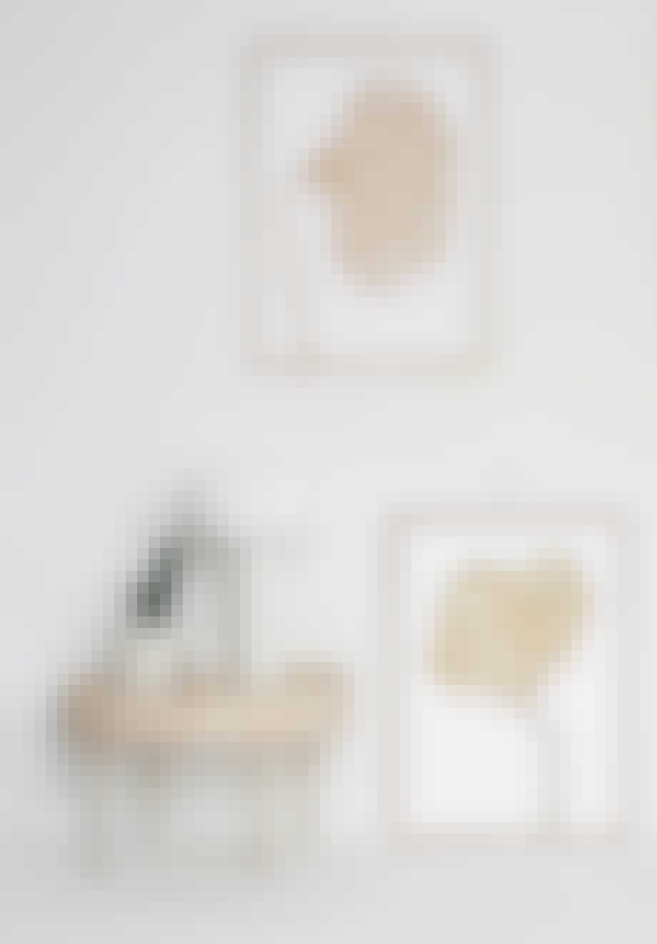 Gullkantet bilde av linoleum