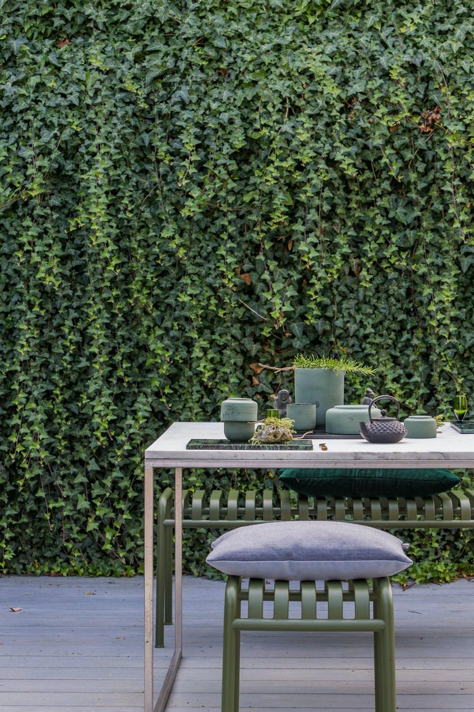 Grønt veggteppe