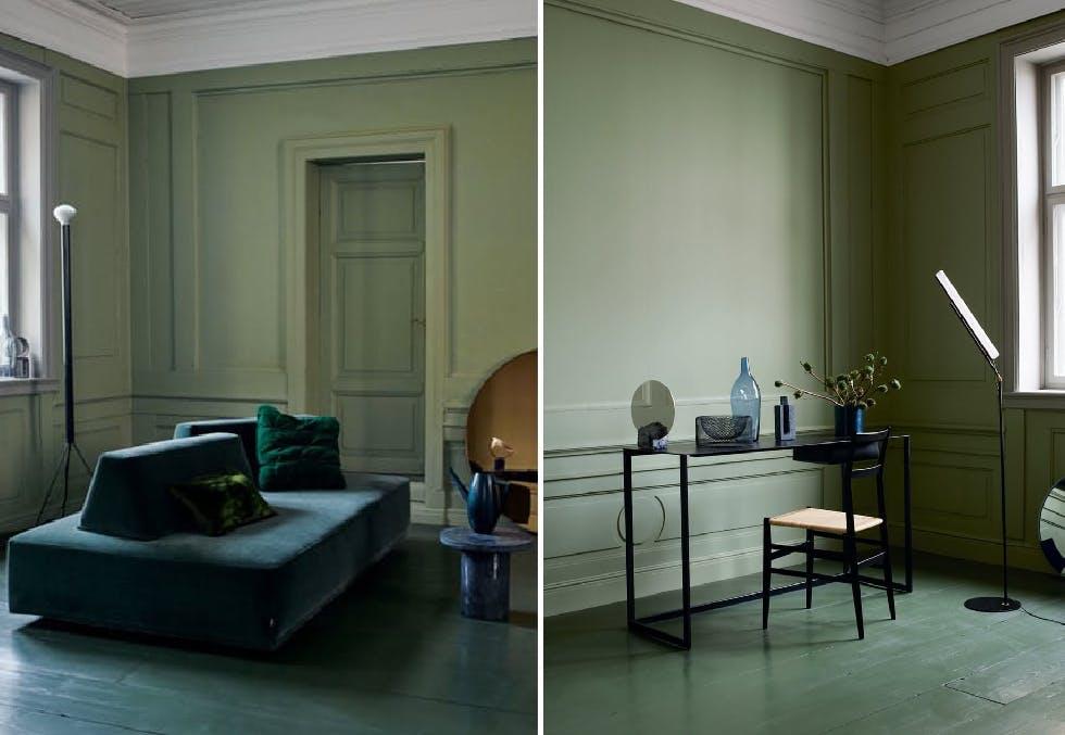 Monokrome farger og skulpturelle møbler