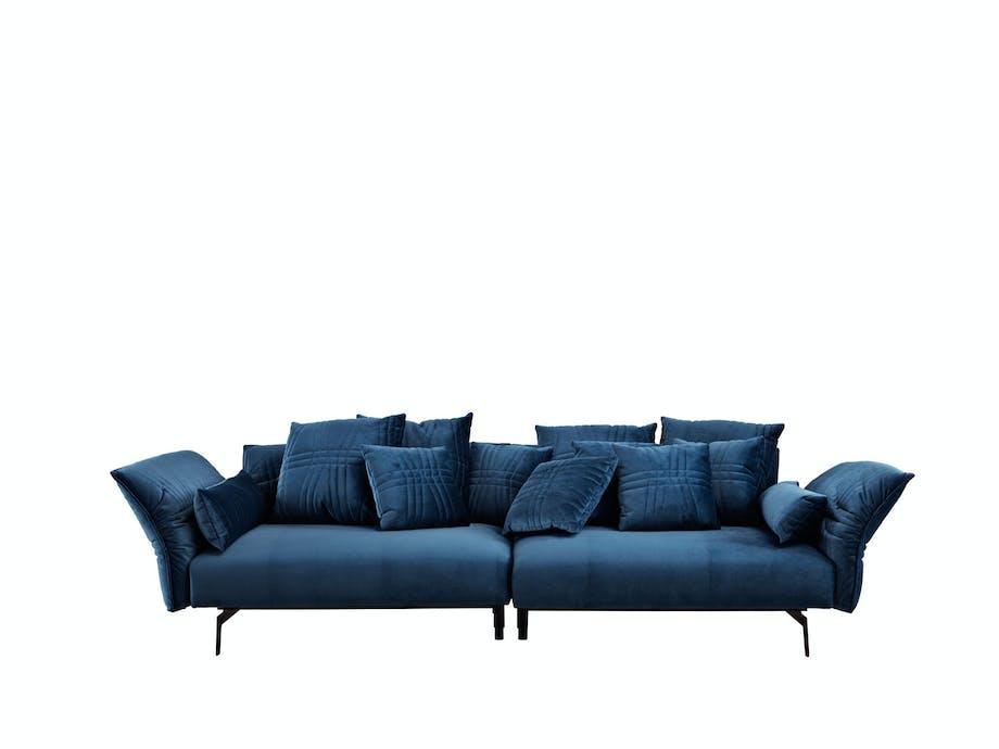 Blå sofa gir hvilepuls