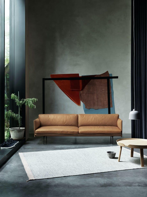 Komfortabel sofa i skinn