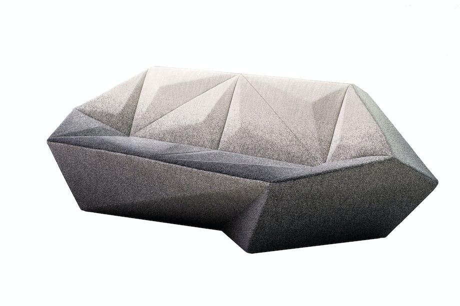 Geometrisk sofa