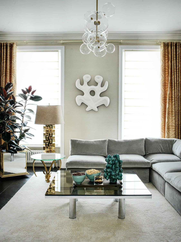 Glamour og eleganse i stuen
