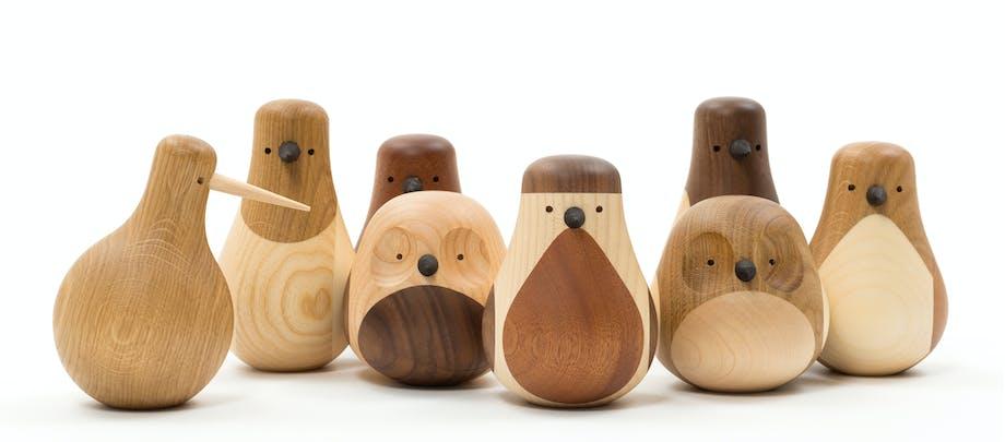 Fuglefamilien Turned designet av Lars Beller Fjetland for Hem