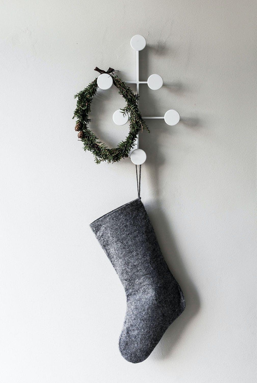 Grå julestrømpe fra Nepal Project