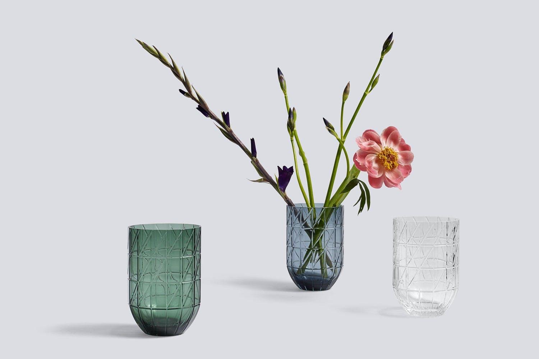 Fargede glassvaser fra Hay, Colour Vase