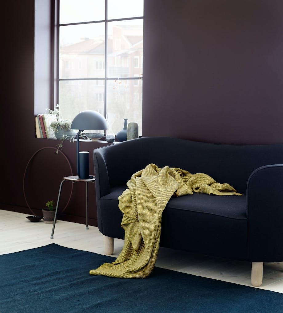 Pleddet Una designet av Anderssen & Voll for Røros Tweed