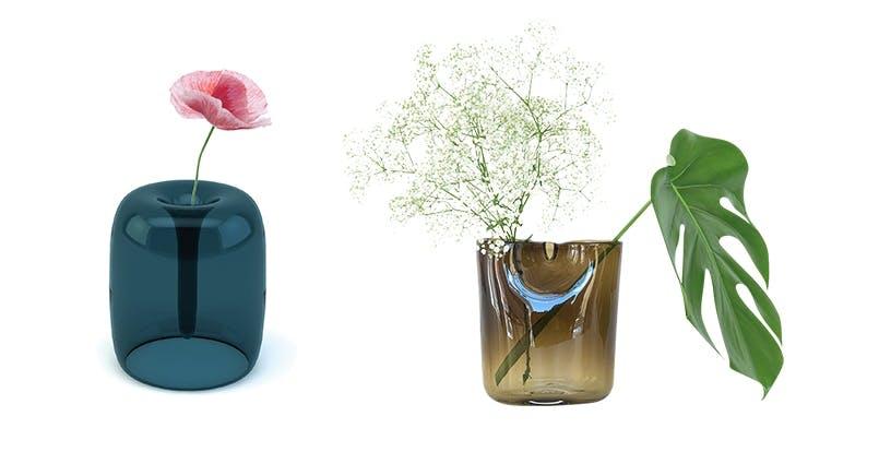 Vaser designet av Kristine Five Melvær