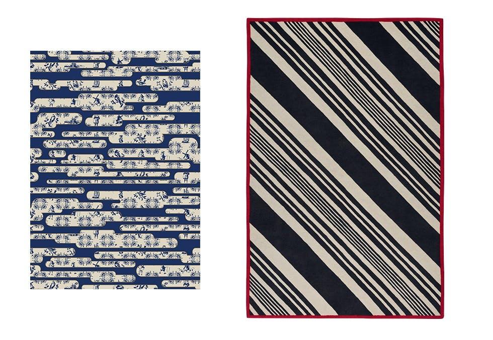 mønstret gulvteppe