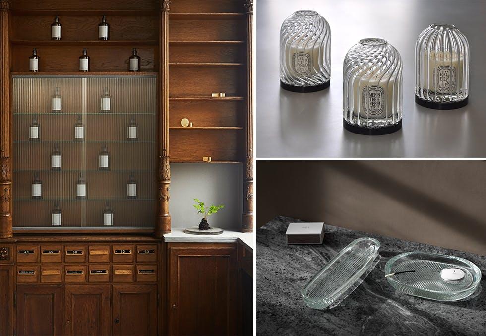 design i rillet glass