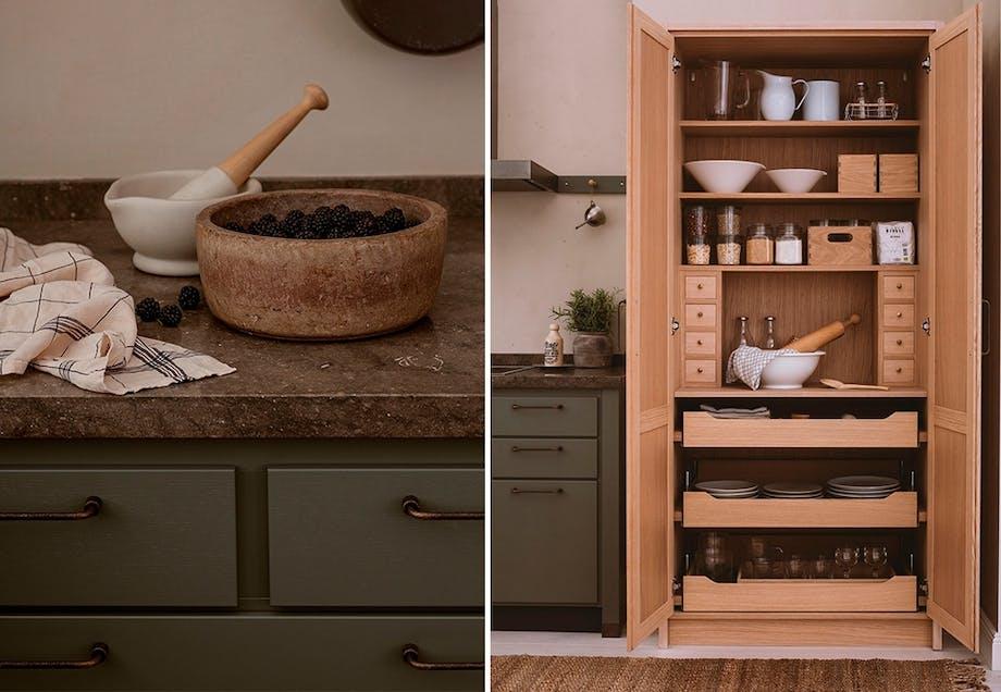Kjøkken inspirert av nordisk natur
