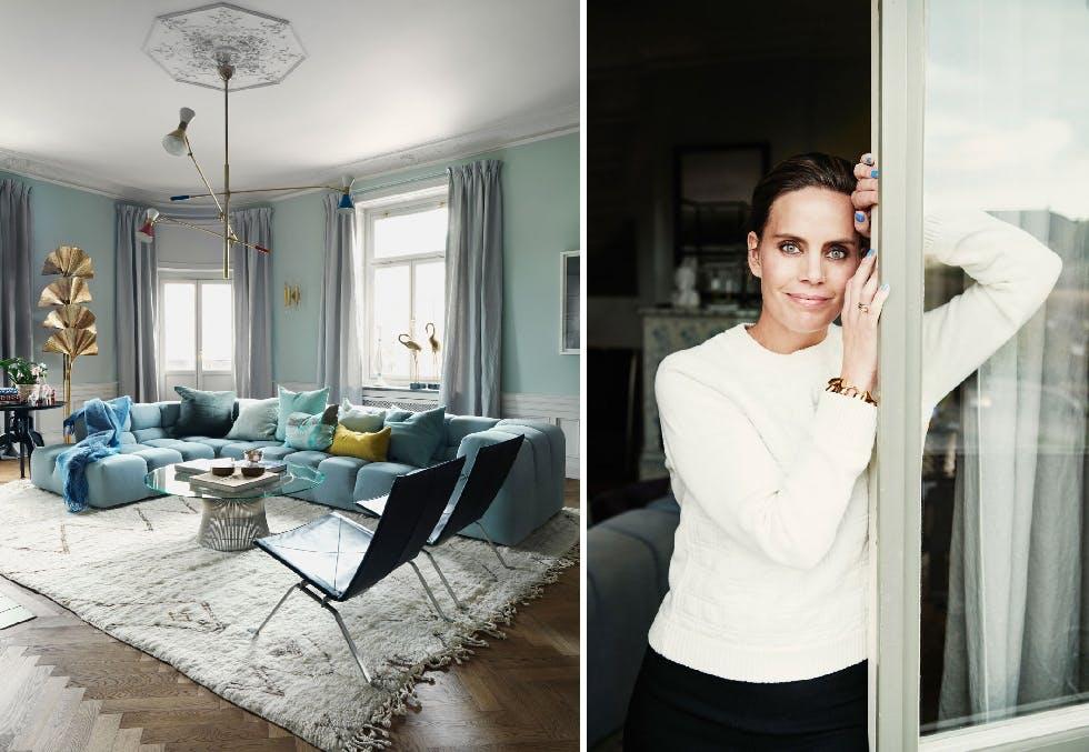 Leilighet i Stockholm med historisk sus og moderne farger