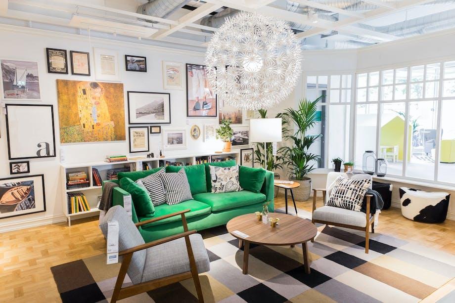 Mens fokuset hos varehusene ofte er på leiligheter på rundt 50 kvadrat, vises en 100 kvadratmeter stor Frogner-leilighet i de nye Ikea-lokalene på Skøyen.
