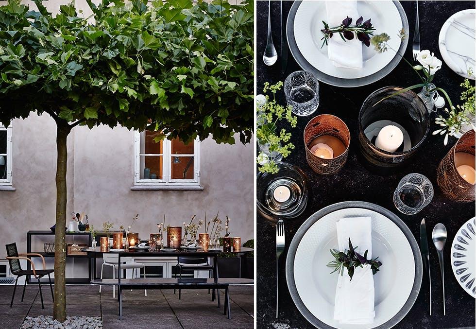 Dekk på til sommerfest på terrassen og nyt sensommerkvelden.