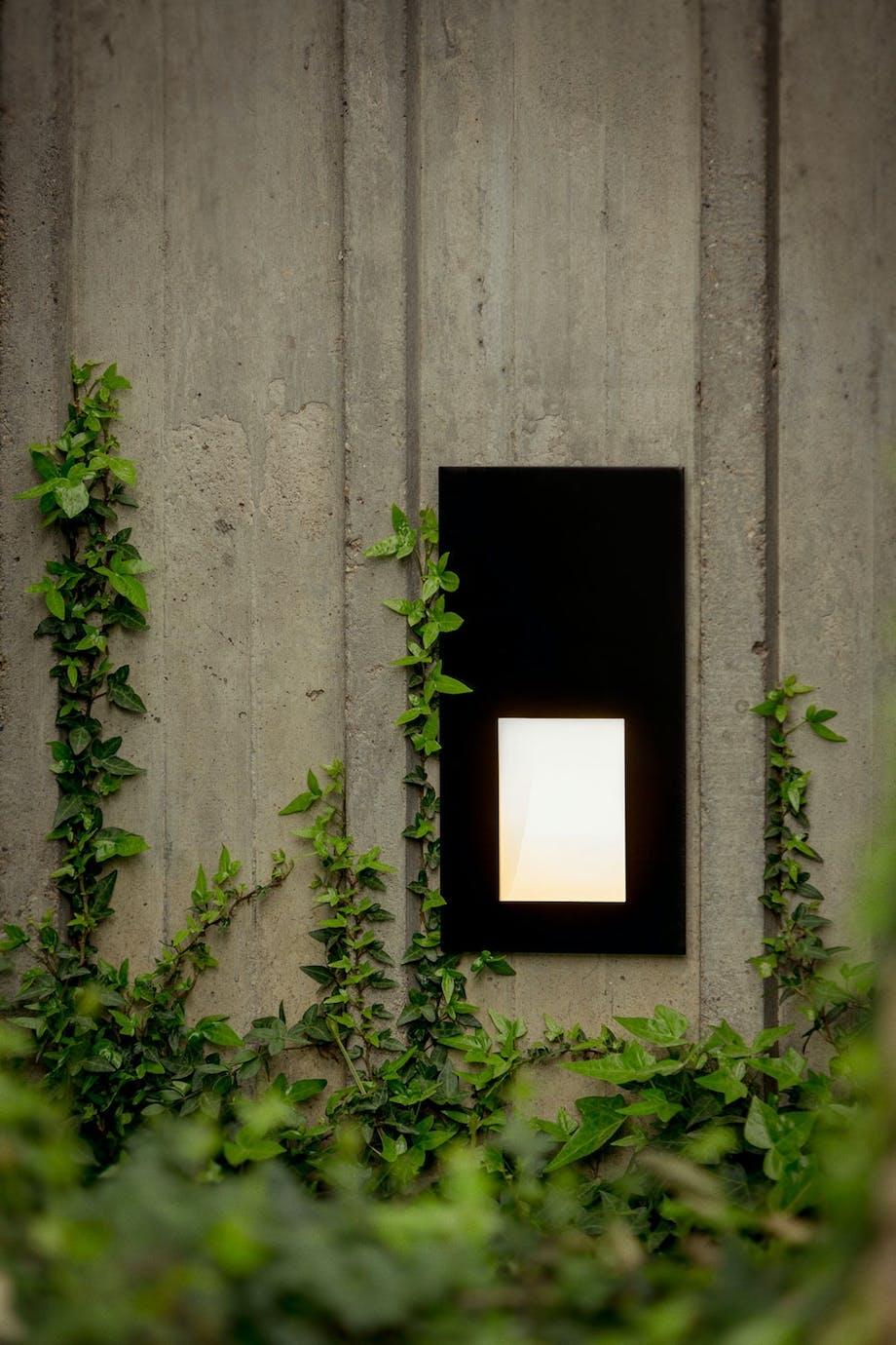 Lyser opp veggen