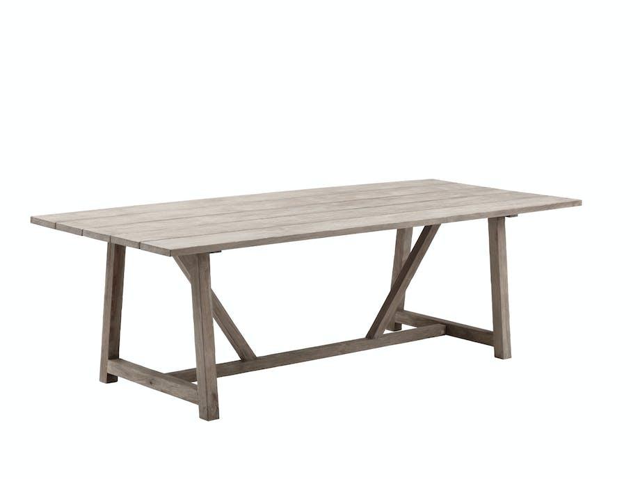 Langbord laget av teak fra  gamle hus og båter, George, 19800kr, Sika Design.