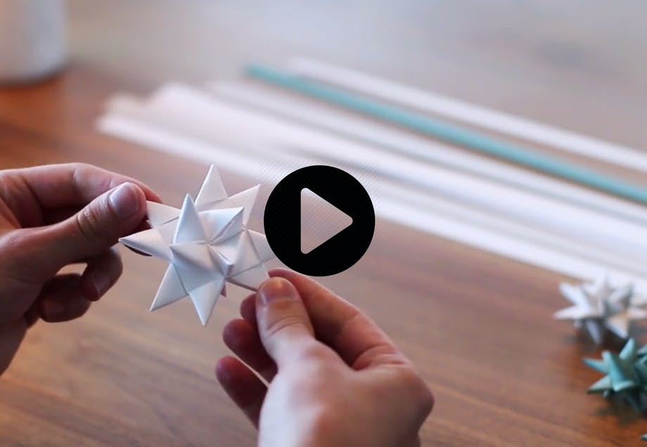 Julestjerner av papir DIY-video