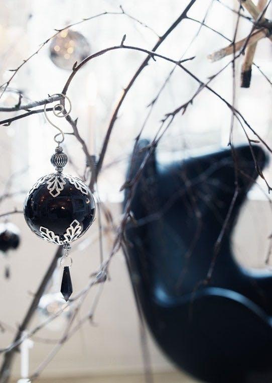 Sort/hvitt julehjem