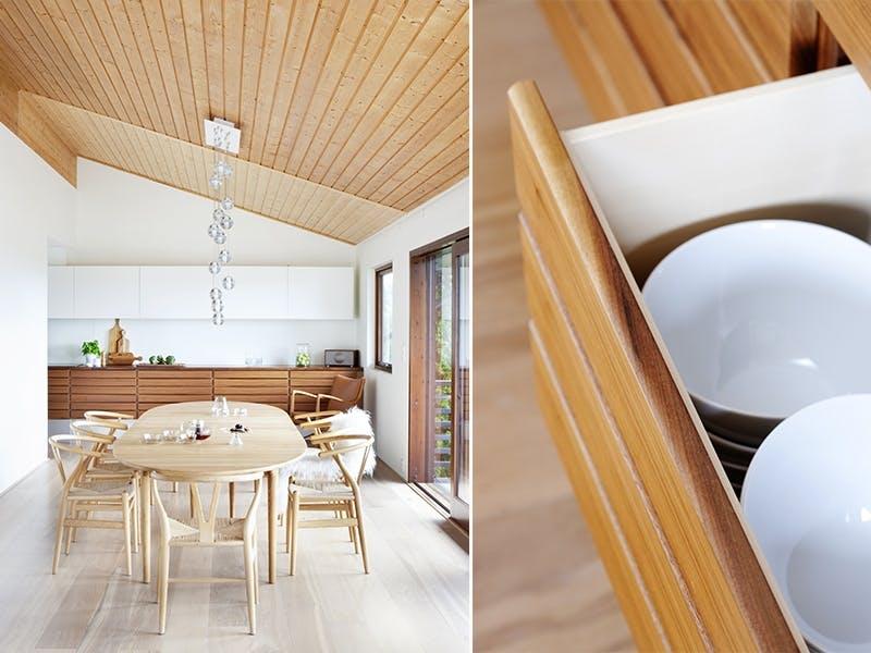 Glidende overganger mellom stue og kjøkken