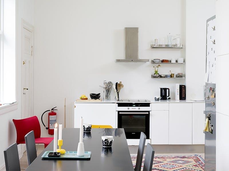 Åpen løsning på kjøkkenet