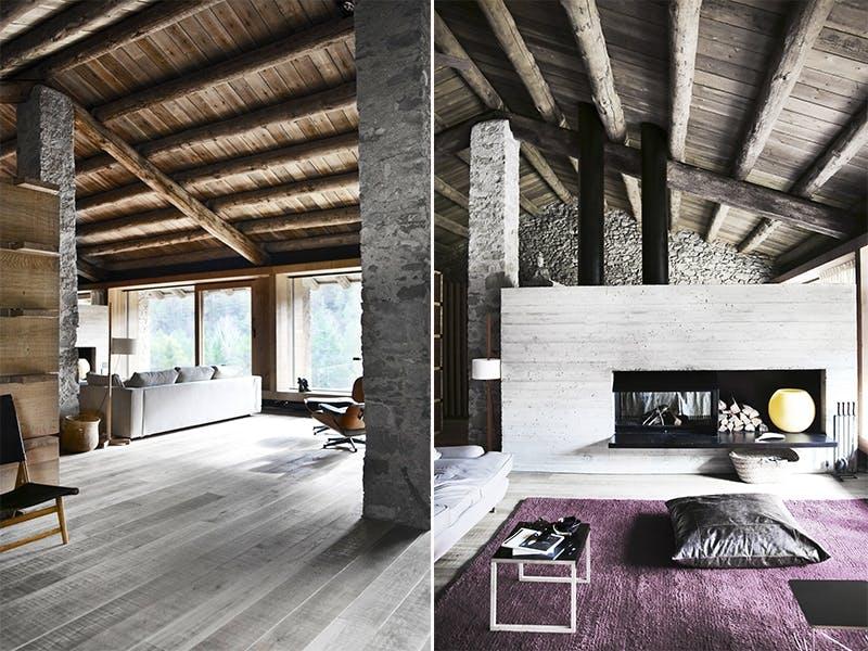 Åpen og romslig stue