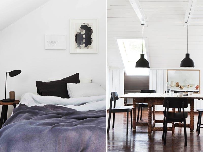 Familievennlig og innbydende leilighet på loftet