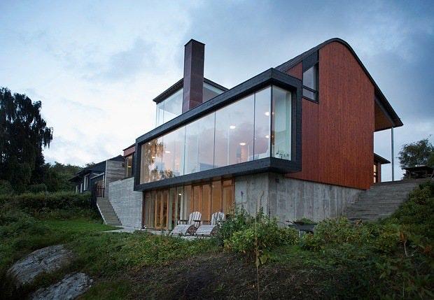 Bygget nytt hus utenpå