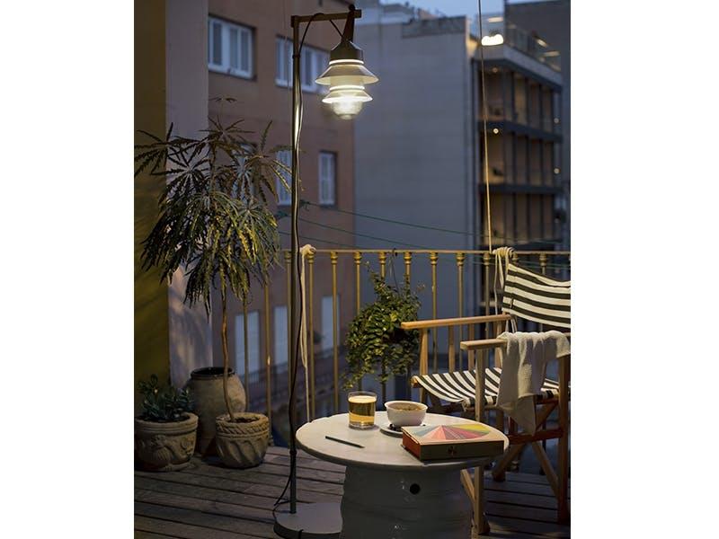 Terrassekos med vakkert lys