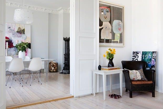 Klassisk og moderne leilighet
