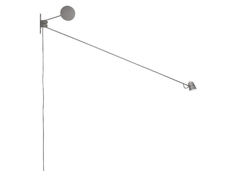 Lekker lampe i grått