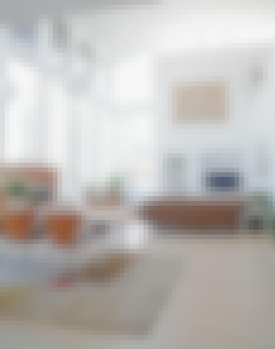 Åpen stue og spisestue