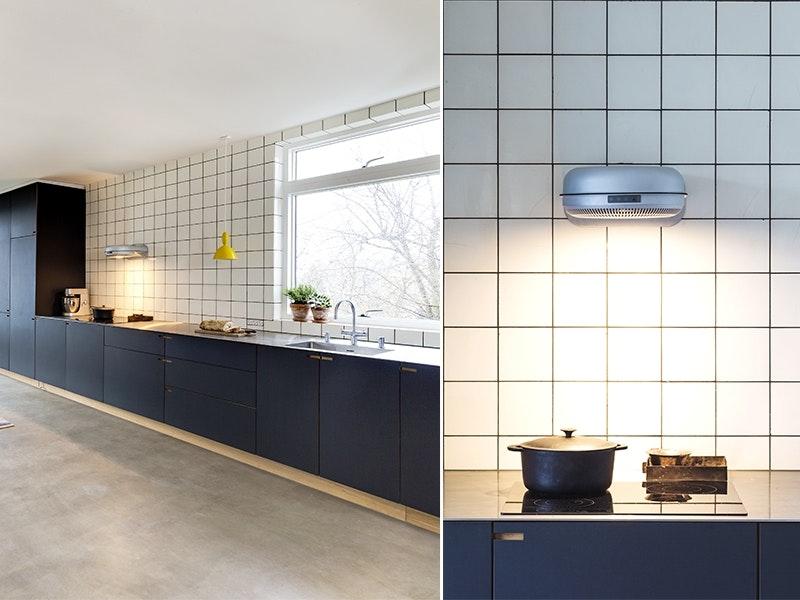 Moderne og gjennomtenkt kjøkken med sjel