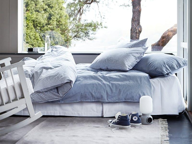 Myk morgen med lekkert sengetøy