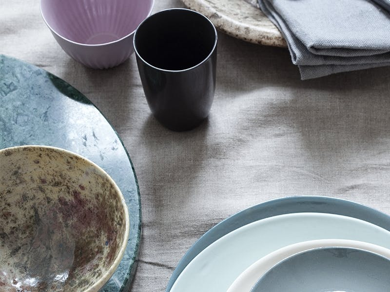 Materialmiks på bordet