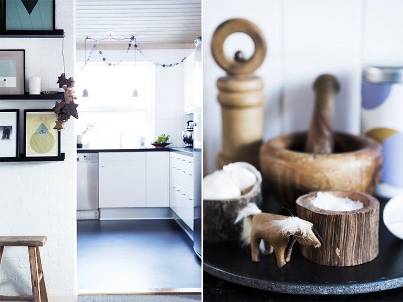 Monokromt på kjøkkenet