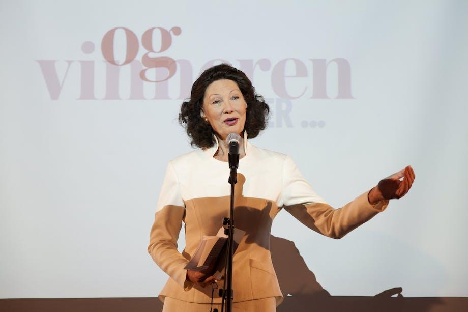 Åse Kleveland delte ut prisen til Årets designer