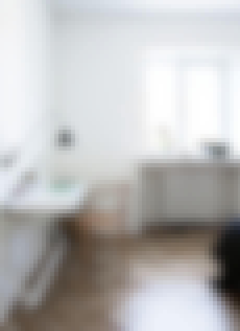 Arbeidsplass på soverommet