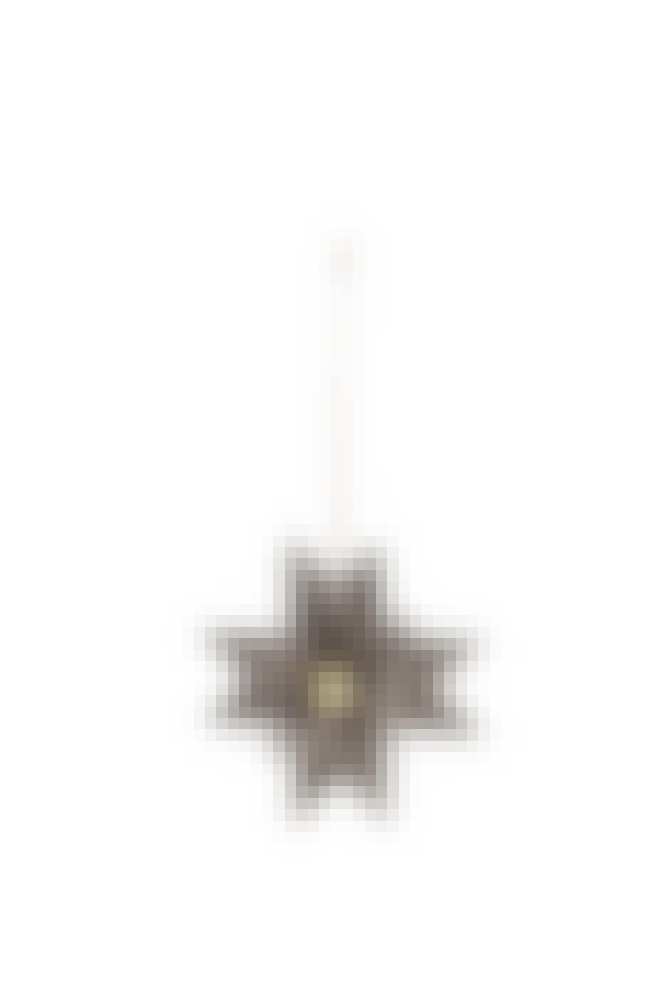 Håndbrettet stjerne med trekule på