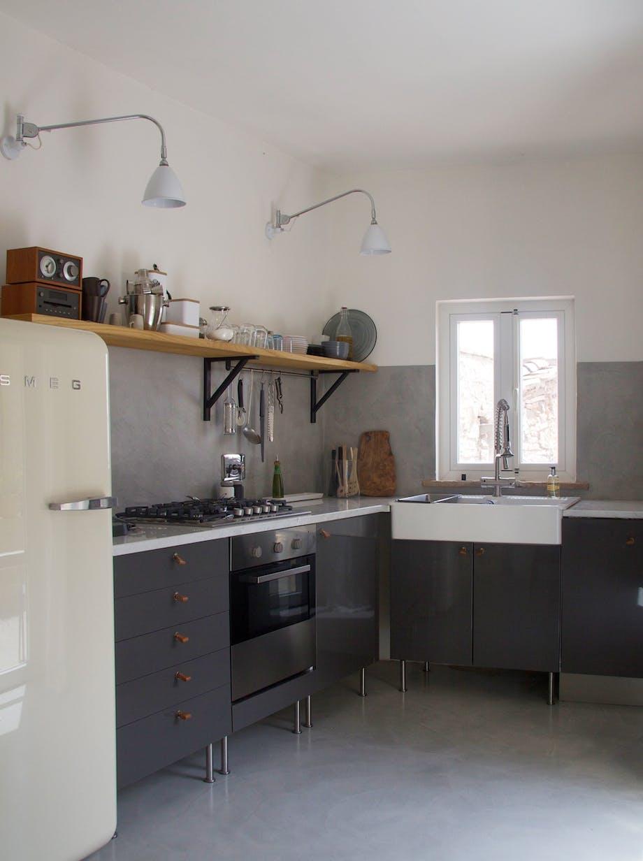 Kjøkkenet etter oppussing.
